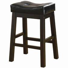 """Dark Cherry 24"""" Counter Stool with Upholstered Seat by Coaster 120519 - Set of 2"""
