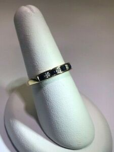Ladies Sapphire and Diamond band set in 10 Kt Yellow Gold