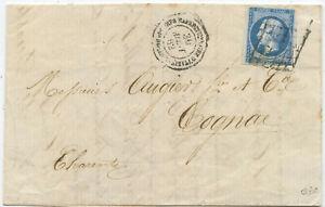 Frankreich Militär Brief Italien 1862 Rom Cognac 1862