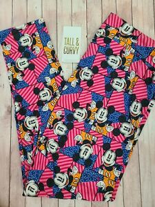 NEW LuLaRoe TC Disney Leggings Multi Color Geometric Mickey Mouse