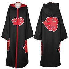Akatsuki Cloak Hooded Itachi Sasuke Madara Cosplay Costume Robe Hooded Coat