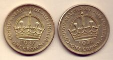 1937 & 1938  SILVER CROWNS in A1 CONDITION     NO  RESERVE !!!!