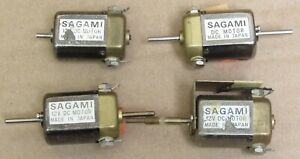 Sagami 12V DC Motor LOT (4) good for Brass Trains Motor Replacement