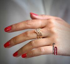 Ring Multi Pfeil art deco golden Kristall Retro Antik Original Einstellbar Z2