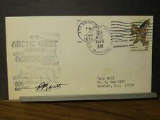 USCGC NORTHWIND WAGB-282 Naval Cover 1978 ARCTIC WEST Signed POLAR Cachet