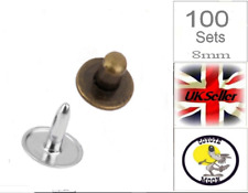 Hat Rivets Studs Buttons Leather craft Jeans Bag Sewing 8mm UK SELLER