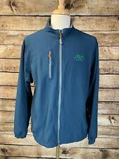 Peter Millar e4 Wind Element Blue Full Zip Jacket Size XL Golf