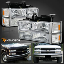 1994-1998 Chevy C10 C/K Tahoe Headlights+Corner Signal+Bumper Parking Lamps (Fits: Chevrolet)
