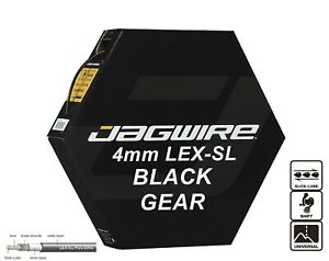 JAGWIRE Black 4mm Bike Gear Outer Cable Housing LEX-SL Pre-Lubricated JGC124