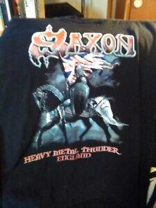 Saxon Heavy Metal Thunder England Shirt Size XL/Medium (Read Description)