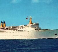 SUNK in 2001 SS Doric cruise ship liner Home Lines Vintage Postcard
