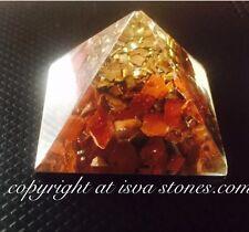 Reiki Carica Energia Naturale Rosso Jasper Orgone Piramide Potente generatore di energia