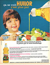 PUBLICITE ADVERTISING 015  1964  HUILOR   huile  UNIPOL