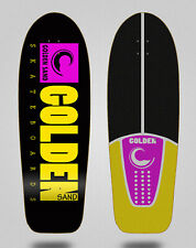 New listing Skateboard Surfskate Deck Golden Sand Icon Black Pink Yellow 30.5
