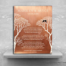 (LT-1302) Personalized I Carry Your Heart Bare Trees Love Birds Winter Weddin...