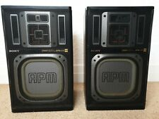 RARE SONY APM - D5 SPEAKERS MADE IN JAPAN WORKING / TESTED