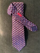 Mens Hermes Silk Tie 7037 TA