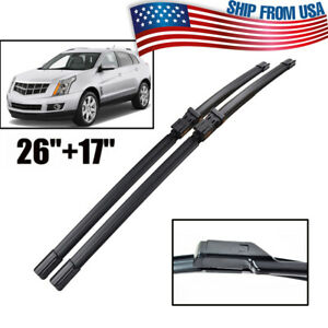 2Pcs For Cadillac SRX 10-16 Windshield Windscreen Wiper Blades Front Window Set