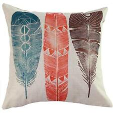 Vintage Linen Cotton Home Decorative Feather Pillow Case Waist Cushion Cover AU