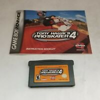 TONY HAWK'S PRO SKATER 4 W/ MANUAL- NINTENDO GAMEBOY ADVANCE SP GBA