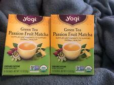 Yogi Green Tea Passion Fruit Matcha 2 Box Pack Supplies Antioxidants