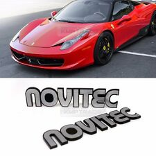 Side Front Trunk Hairline Emblem Point NOVITEC Logo Badge 2p for All Vehicle