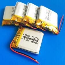 5pcs 3.7v 450mAh LiPo Rechargeable Battery for MP3 MP4 Speaker Smart band 552730