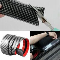 Car Carbon Fiber Rubber Sticker DIY Car Door Sill Protector Edge Guard Strip 1M
