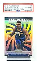 2019 Prizm SILVER Refractor Pelicans ZION WILLIAMSON Rookie Card PSA 10 GEM MINT
