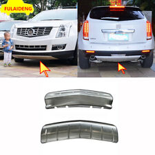 2x For Cadillac SRX 2010-2016 Car Front&Rear steel Bumper Guard Plate cover Trim