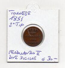 Regno due Sicilie - 1853 -  1 Tornese - 2° Tipo - Ferdinando II° -  (MW381)