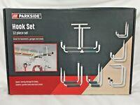Parkside Hook Set 12 Pieces Storage Garage Bikes Ladder Tool Hanging New Sealed
