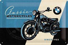 BMW Classic Motorcycles since 1923  Blechschild 20x30 cm  - MotorradSign 22233