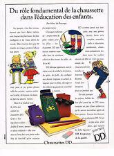 PUBLICITE ADVERTISING 064  1988  DD   chaussettes pour enfants