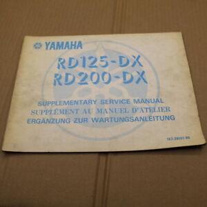 MANUEL SUPPLEMENT TECHNIQUE ATELIER YAMAHA RD 125 200 DX 1977-> 48 PAGES RDX