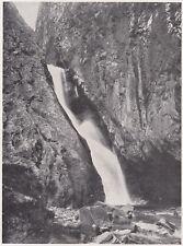 D5747 Val di Susa - Cascata in fondo all'Orrido di Foresto - Stampa - 1932 print