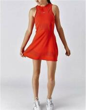 NWT ADIDAS STELLA McCARTNEY TENNIS DRESS WITH SHORTS SKIRT CORE RED L LARGE