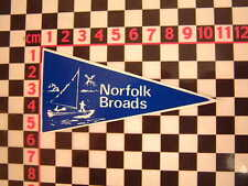1960's Style Norfolk Broads Holiday Pennant - Classic Camper Coach VW Car