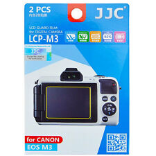 JJC LCP-M3  polycarbonate LCD Screen Protector For Canon EOS M3 2 Pack EOSM3