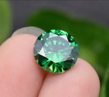 5mm 0.88ct Green Emerald Sapphire Round Cut Shape AAAAA VVS Loose Gemstone