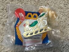 1995 McDonald's Barbie Holiday Barbie Figurine Happy Meal Toy in Sleigh