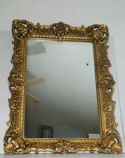 Vintage Mid Century Turner Ornate Wall Mirror - Gold Gilt Molded Plastic Frame