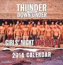 Thunder From Down Under Girl's Night 2014 Wall Calendar - Male Strippers