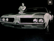 1969 Olds 442 W32/Oldsmobile Cutlass Print Ad-poster/sign/photo/art- W-32/s/1968