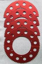 73-75 Rear Split Sprocket Gear #35 Chain Go Kart Racing -Red