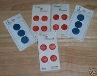 VINTAGE LOT /5 VOGUE BUTTON CARDS BLUE ORANGE