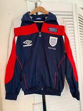 Umbro Mens 1998 Retro Green Flag England Football Soccer Team Track Jacket