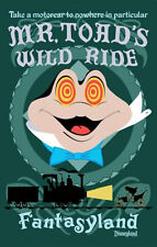 Disneyland Mr. Toad's Wild Ride Poster Disney Fantasyland - Buy Any 2 Get 1 Free