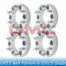 "1.5"" GMC Wheel Spacers 6x5.5 to 6x5.5 with M12X1.5 Studs for Canyon 2004-2012"