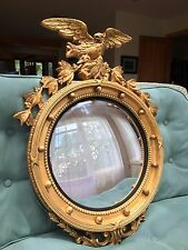 Girandole Mirror Gold Leaf Eagle and Acanthus Leaves